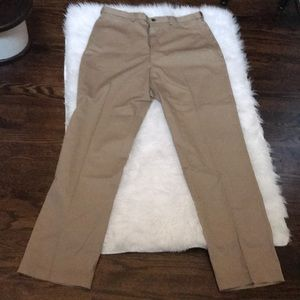Haggar flat from classic fit no iron khaki pants